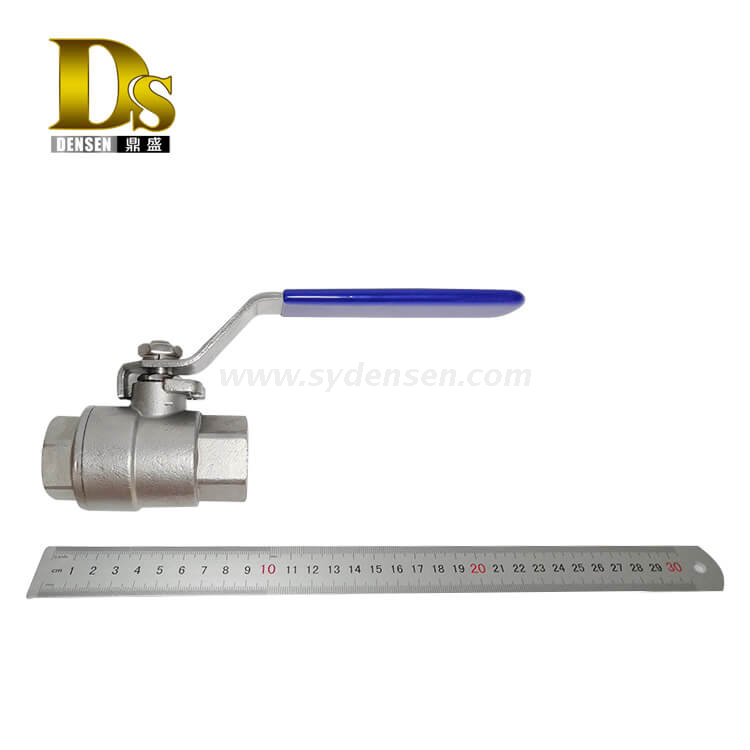 Densen Customized stainless steel 316 investment casting 2 pcs ball valve