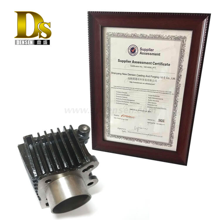 Densen Customized carbon steel WCB sand casting and Surface Electrophoresis Engine Cylinder Block for Motorcycle