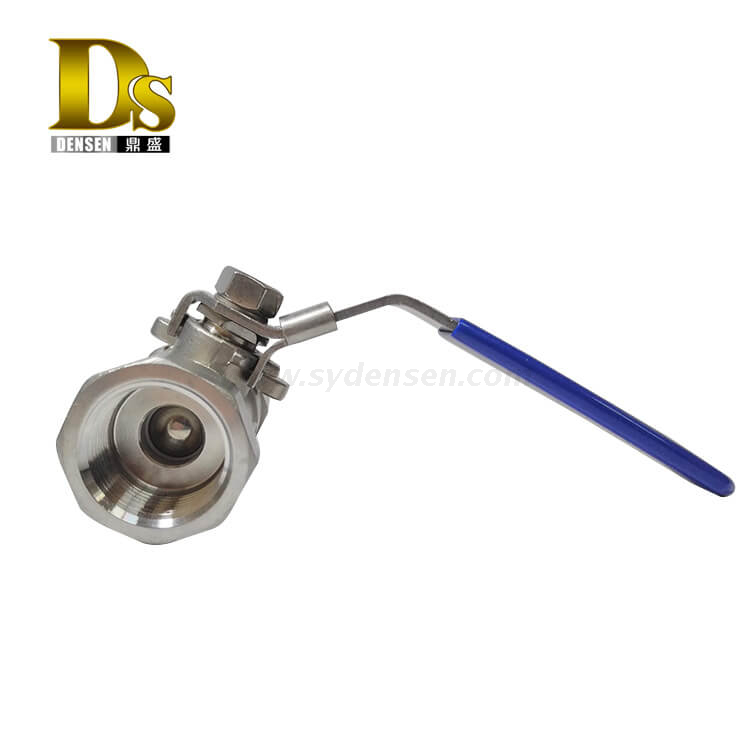 Densen Customized stainless steel 304 Silicon sol casting and machining 1 PC ball valve