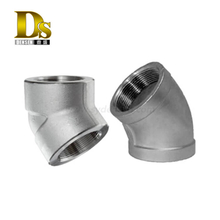Densen customized carbon steel Investment Casting elbow,cast iron 90 degree elbow