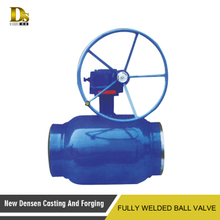 Gas station use worm gear full bore oil and gas floating ball valve