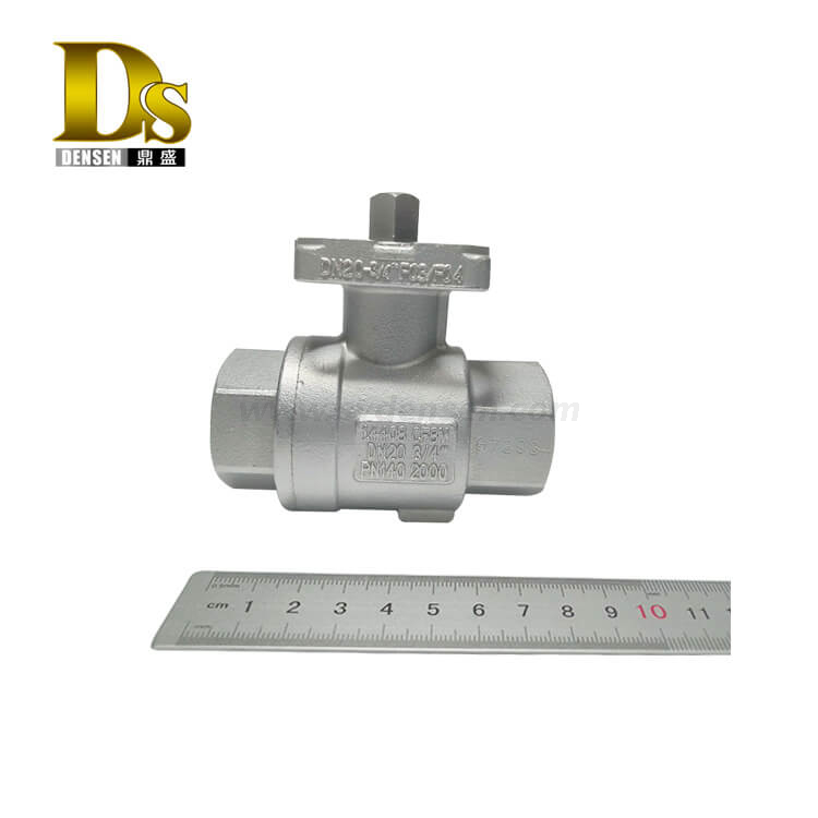 Densen Customized stainless steel 316 Silicon sol casting and machining 2 PC ball valve body,check valve body