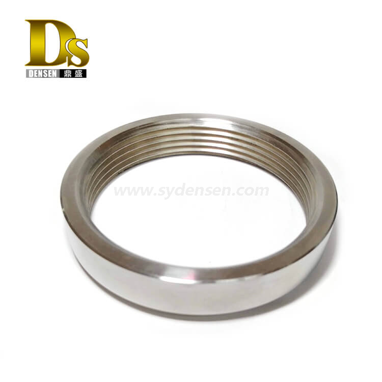 Densen Customized Stainless Steel 304 Pipe machining processing Barrel flange or neck collar flange or Barrel Screw Flange