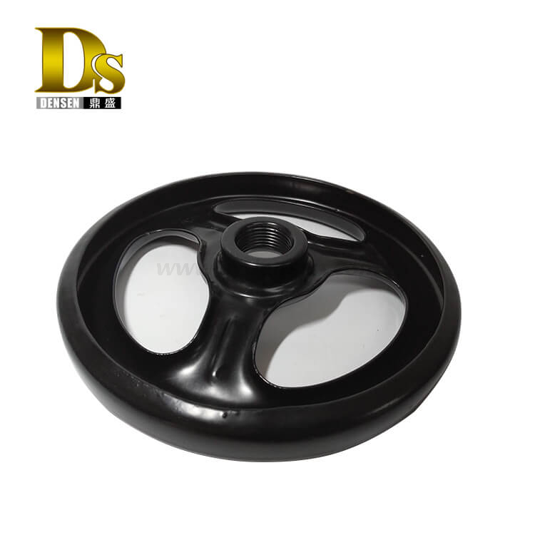 Densen Customized Stamping and welding and painting steel hand wheel for valve,handwheel valve parts,iron valve handwheel